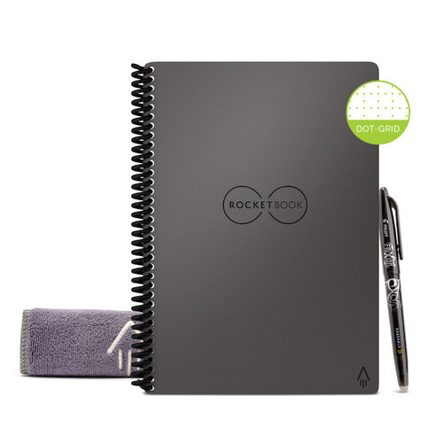 Rocketbook Core Dot Grid | Executive A5 - Deep Space Grey - Hutton
