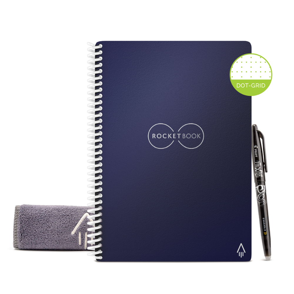 Rocketbook Core Dot Grid | Executive A5 - Midnight Blue - Hutton