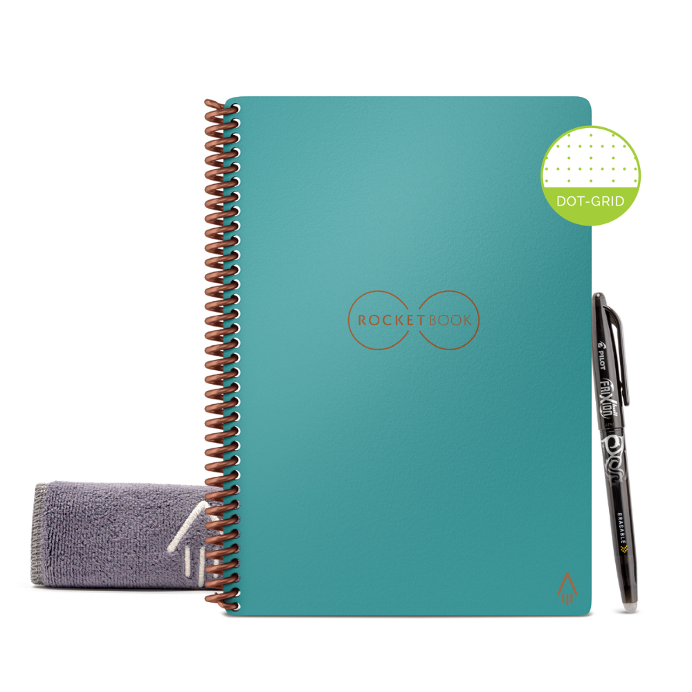 Rocketbook Core Dot Grid | Executive A5 - Neptune Teal - Hutton