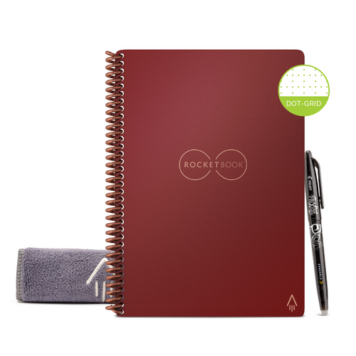 Rocketbook Core Dot Grid | Executive A5 - Scarlet Sky - Hutton