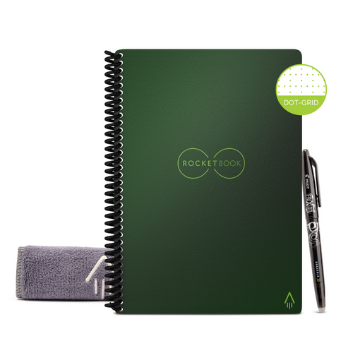Rocketbook Core Dot Grid | Executive A5 - Terrestrial Green - Hutton