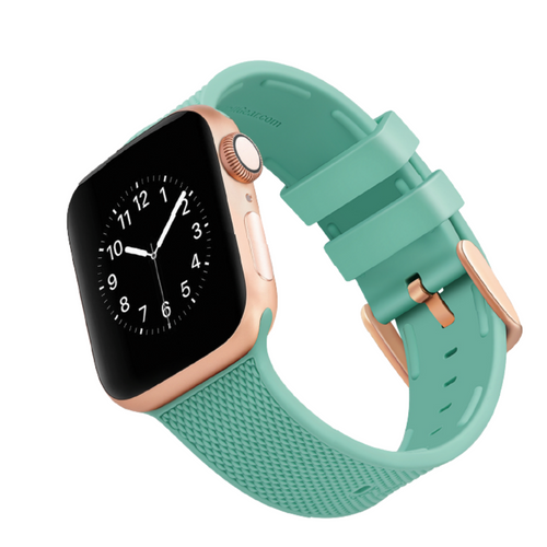 WITHit | Woven Silicone Band for Apple Watch - Teal (38/40 + 42/44mm) - Hutton