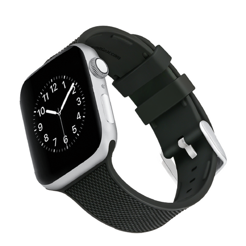 WITHit | Woven Silicone Band for Apple Watch - Black (38/40 + 42/44mm) - Hutton