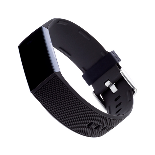 WITHit | Woven Silicone Band for Fitbit Charge 3/4 - Black - Hutton