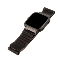 Load image into Gallery viewer, WITHit | Stainless Steel Mesh Band for Fitbit Versa/Versa 2 - Charcoal - Hutton