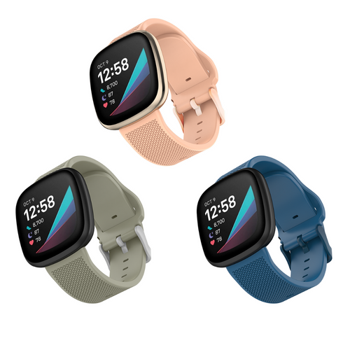WITHit | Fitbit Versa 3 / Versa Sense - 3 pack woven silicone bands - Hutton
