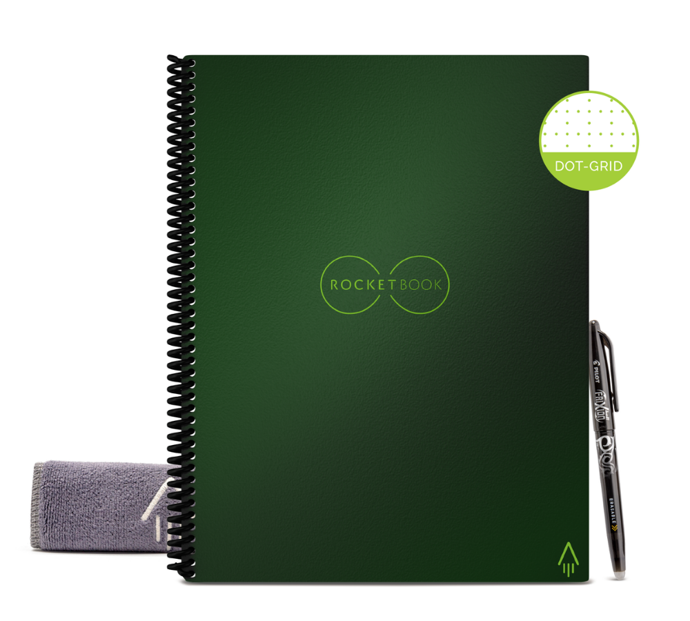 Rocketbook Core Dot Grid | Letter A4 - Terrestrial Green - Hutton