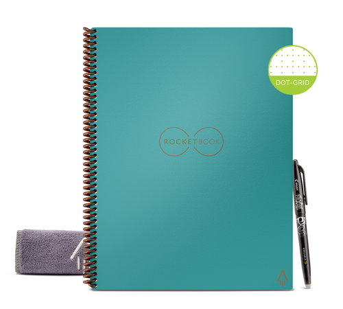 Rocketbook Core Dot Grid | Letter A4 - Neptune Teal - Hutton