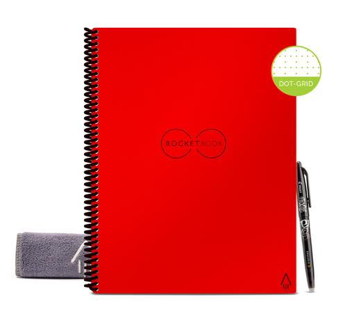 Rocketbook Core Dot Grid | Letter A4 - Atomic Red - Hutton