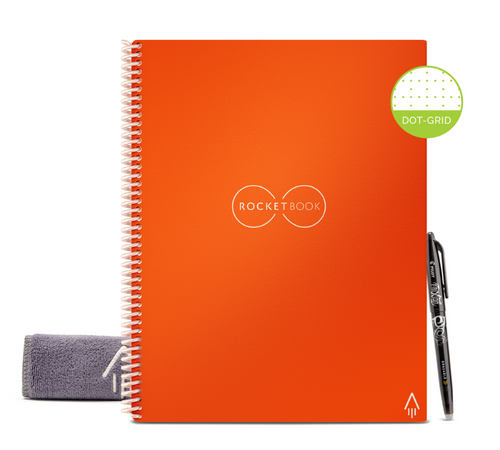 Rocketbook Core Dot Grid | Letter A4 - Beacon Orange - Hutton