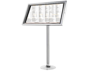 Menu Stands - Podium Style Stainless Steel