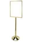 Polished Brass Large Sign Frame And Tapered Base