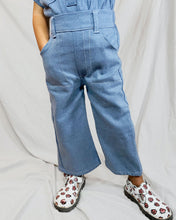 Load image into Gallery viewer, Premium upcycled denim jumpsuit set toddler - kids / I need to go potty Jumpsuit / Not jumpsuit