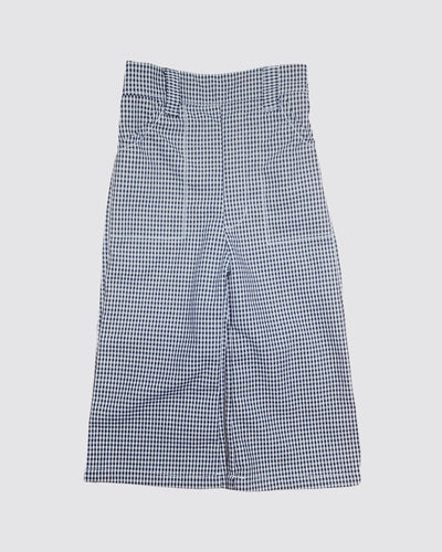 Kids pants high waisted checkered
