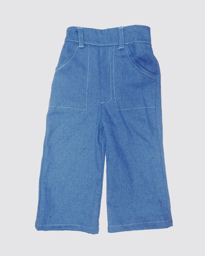 High waisted denim pants for toddlers and kids. Two pockets