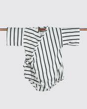 Load image into Gallery viewer, Black stripes baby kimono onesie