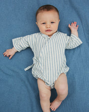 Load image into Gallery viewer, Baby kimono onesie La Superior stripes