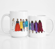 Rainbow Inauguration (9 women) Art Print, Mug, Tote & Tee (sold separately - select from dropdown)
