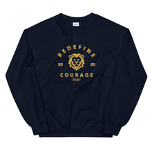 Load image into Gallery viewer, Courage Varsity Sweatshirt - Spirit of Mental Health