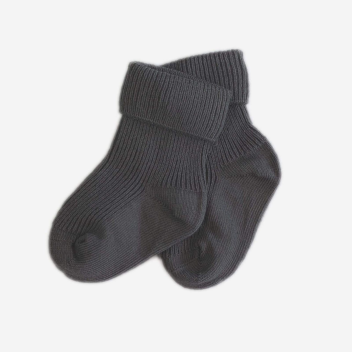 Love Henry Accessories 0-3 Months Baby Classic Cuff Socks - Charcoal