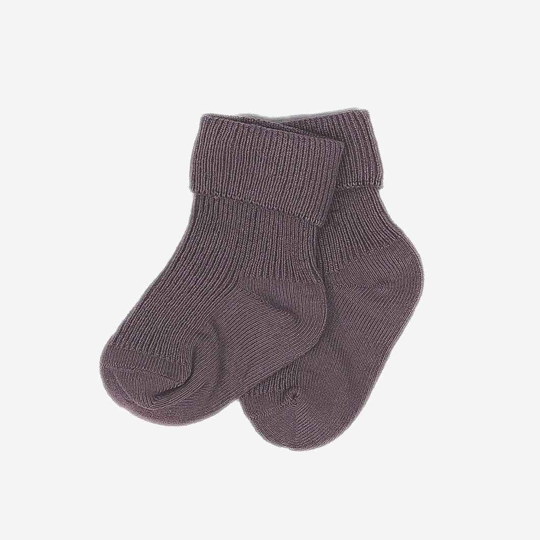 Love Henry Accessories 0-3 Months Baby Classic Cuff Socks - Mauve