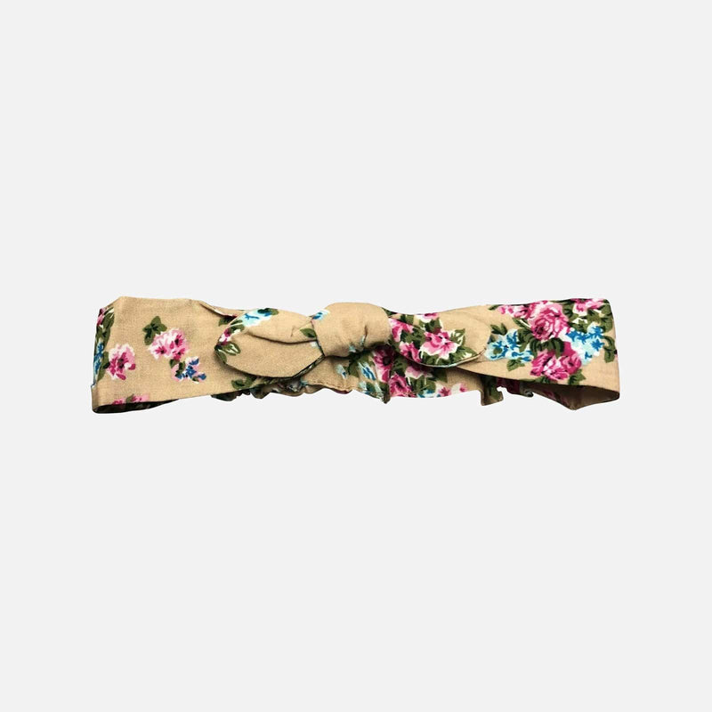 Girls Headband - Mocha Floral