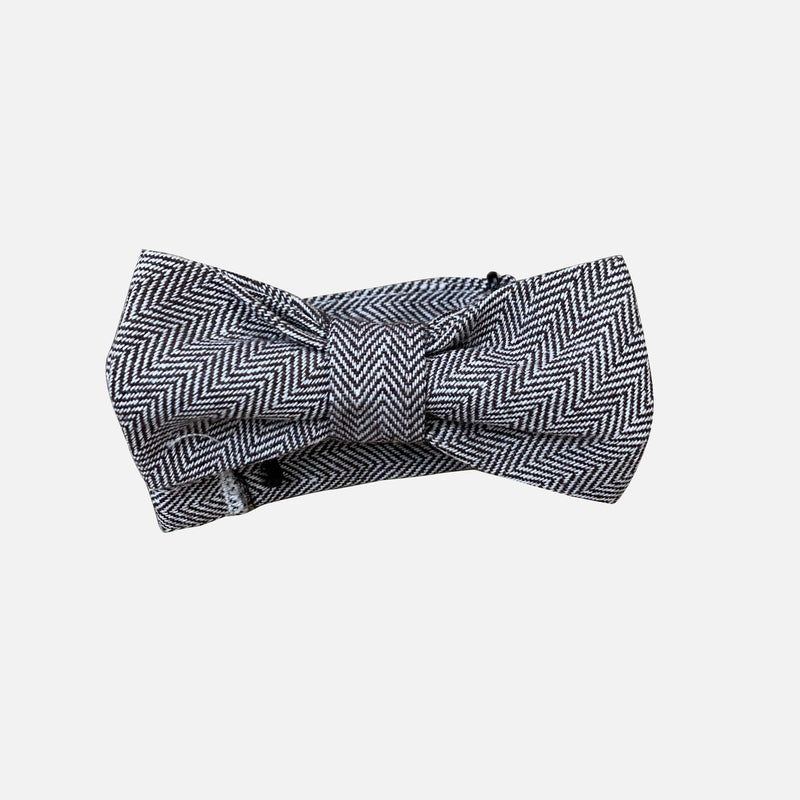 Boys Bow Tie - Brown Herringbone - Size OS