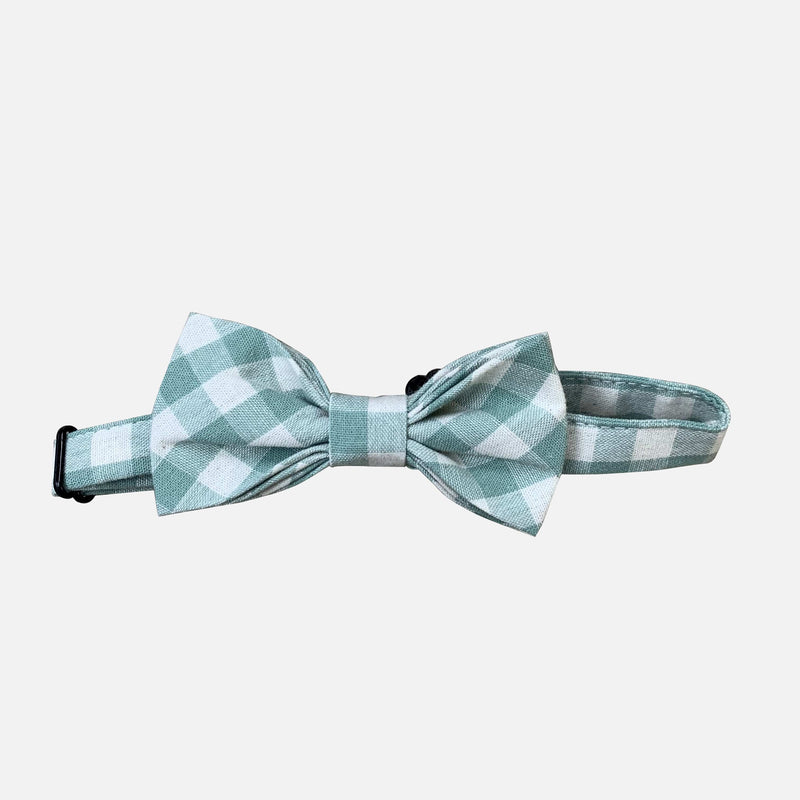 Boys Bow Tie - Green Gingham - Size OS