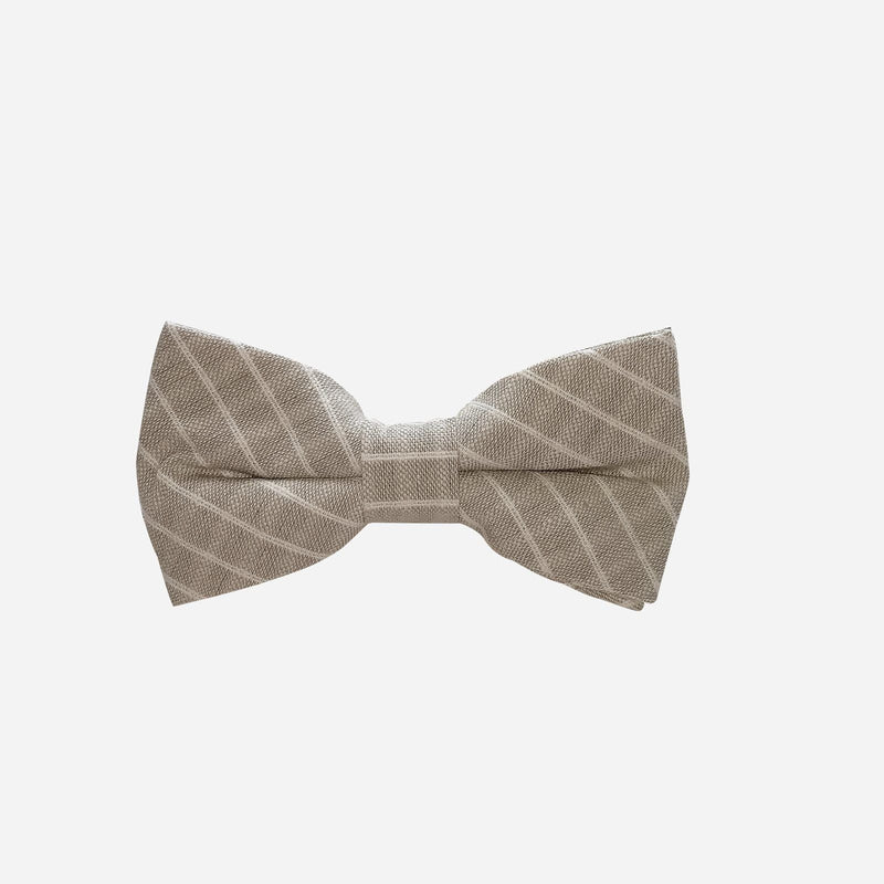 Boys Bow Tie - Stone Stripe