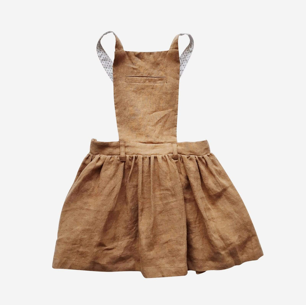Love Henry Dresses Girls Betty Pinafore - Bronze