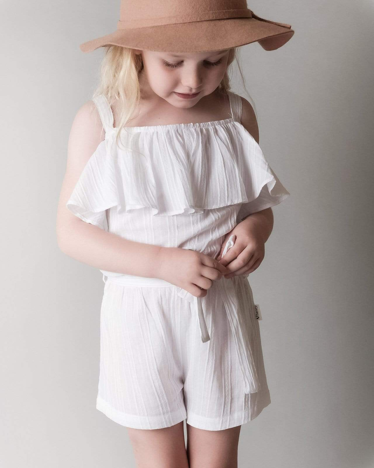 Love Henry Playsuits Girls Hallie Playsuit - White