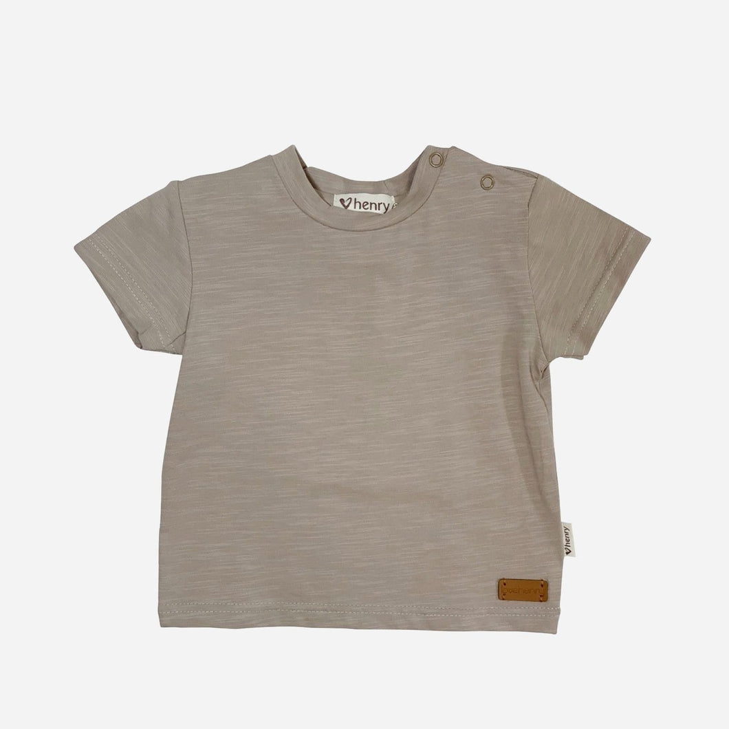 Love Henry Tops Baby Boys Plain Tee - Dusty Grey