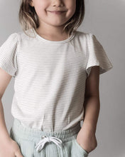 Load image into Gallery viewer, Love Henry Tops Girls Frill Sleeve Top - Olive Stripe
