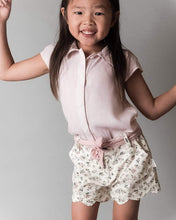Load image into Gallery viewer, Love Henry Tops Girls Short Sleeve Blouse - Fine Pink Stripe