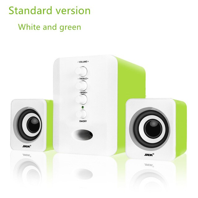 D-202 USB Wired Bluetooth Speaker Set Computer Speakers Bass Music Player Subwoofer Sound Box for Desktop Laptop PC Smart Phone