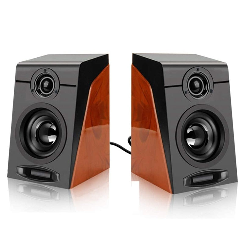 3Wx2 Computer Speakers with Surround Stereo  Wired Powered Multimedia Speaker for PC/Laptops/Smart Phone Usb Speakers for Laptop