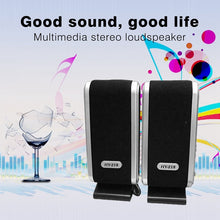 Load image into Gallery viewer, 2 Pcs USB Computer Speakers Portable Speaker Stereo 3.5mm with Ear Jack for Desktop PC Laptop home notebook TV loudspeakers