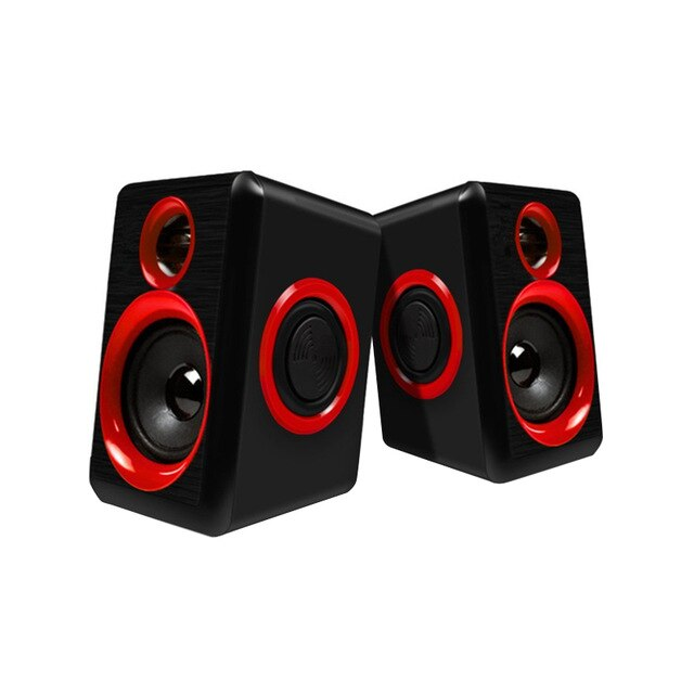 Retail Surround Portable Computer Speakers With Stereo Bass Usb Wired Powered Multimedia Speaker Desktop For Pc Laptops
