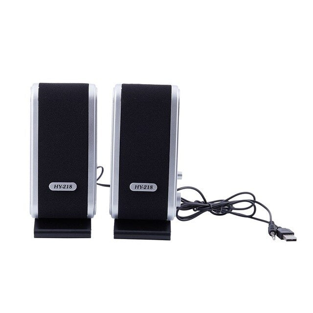 NEW 2 Pcs 120W USB Power Desktop Computer Notebook PC Laptop Wired Music Player Stereo Speaker with 3.5mm Earphone Jack