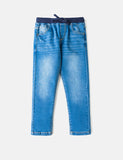 Ribbed Waist Band Jeans