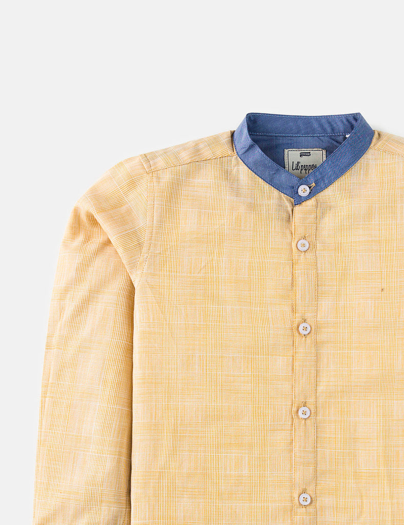 Gingham Button-Front Shirt (6295499604120)