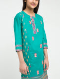 Multi Floral Embroidered Suit With Out Sleeves