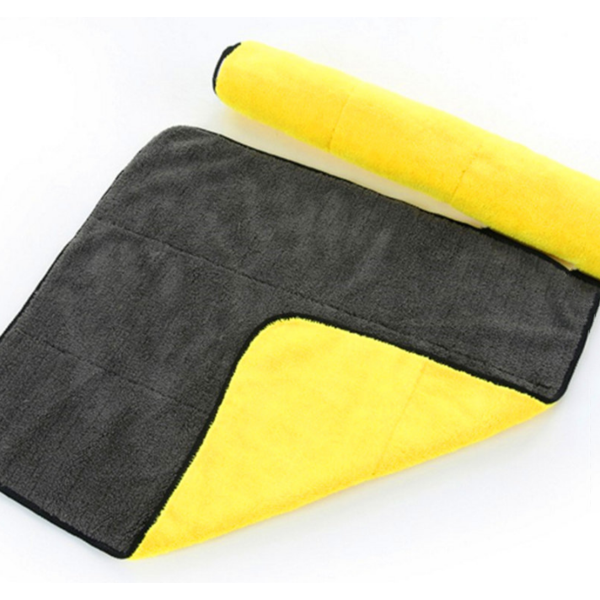 Double-sided Microfiber Absorbent Cleaning Towel (2 Pcs)