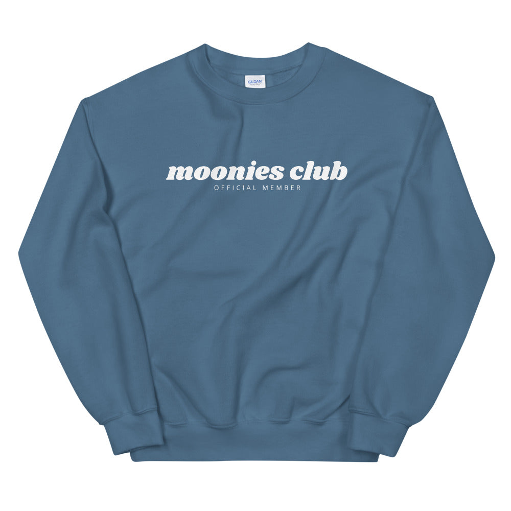 Moonies Club Unisex Sweatshirt (White)