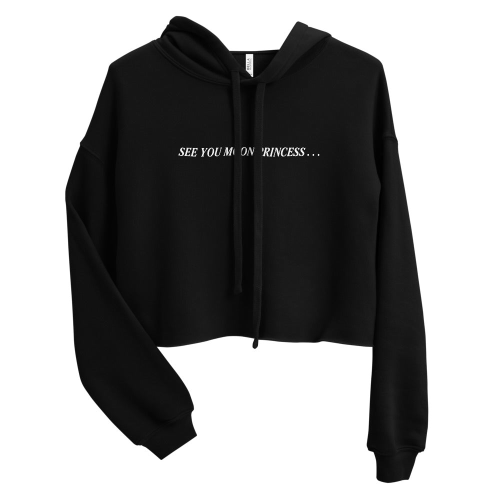 See You Moon Princess Crop Hoodie
