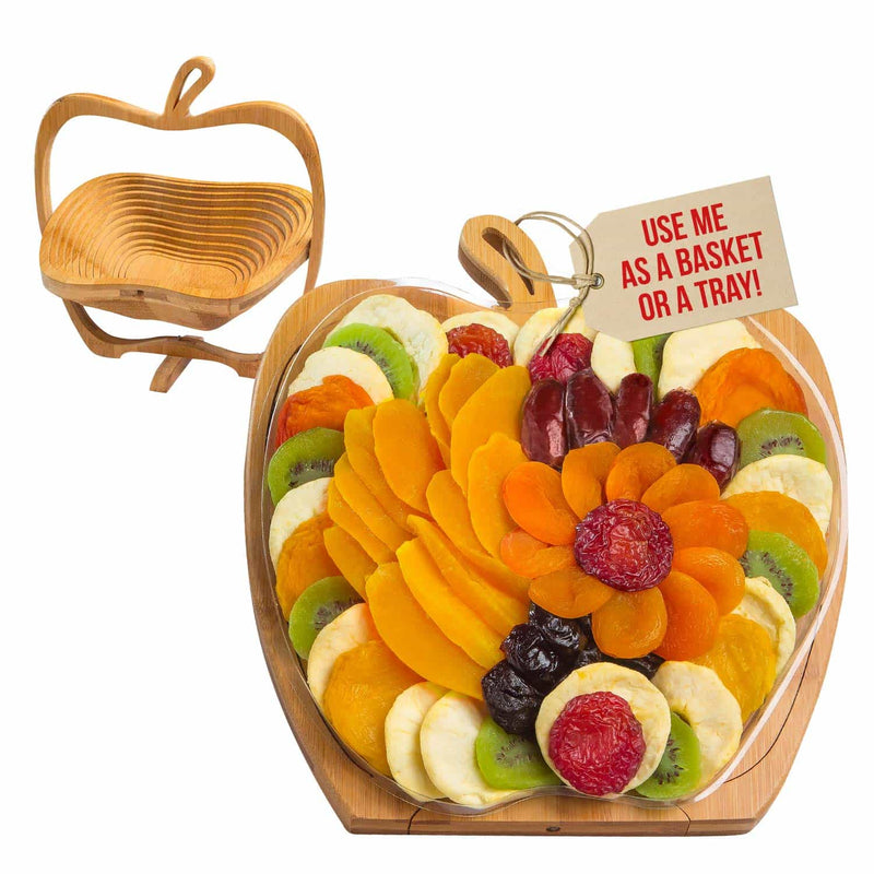 Dried Fruit Apple Tray, Trivet, and Fruit Basket