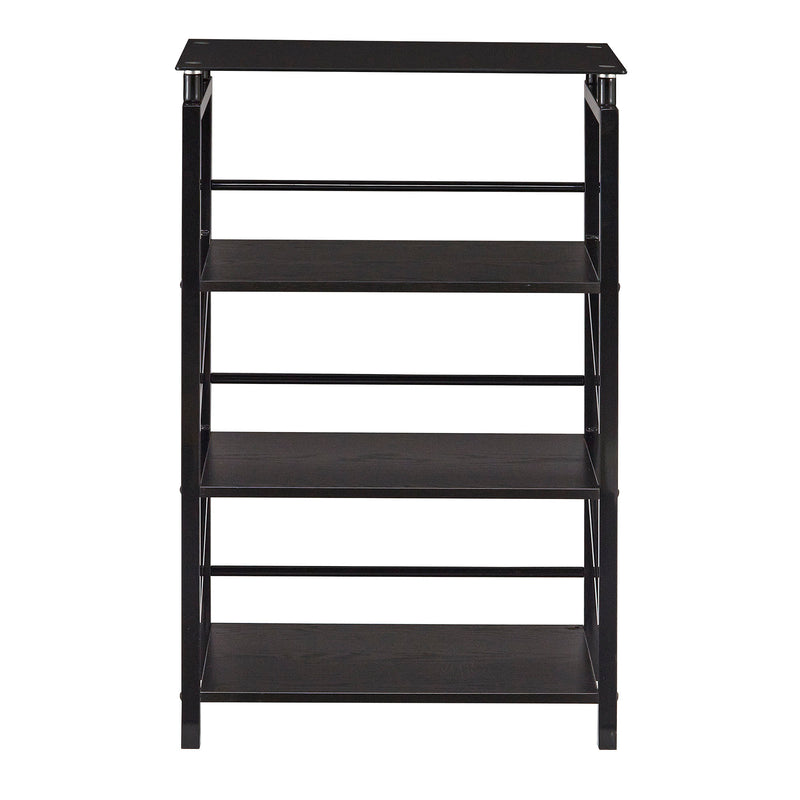 SOHO Glass Top 4-Shelf Bookcase