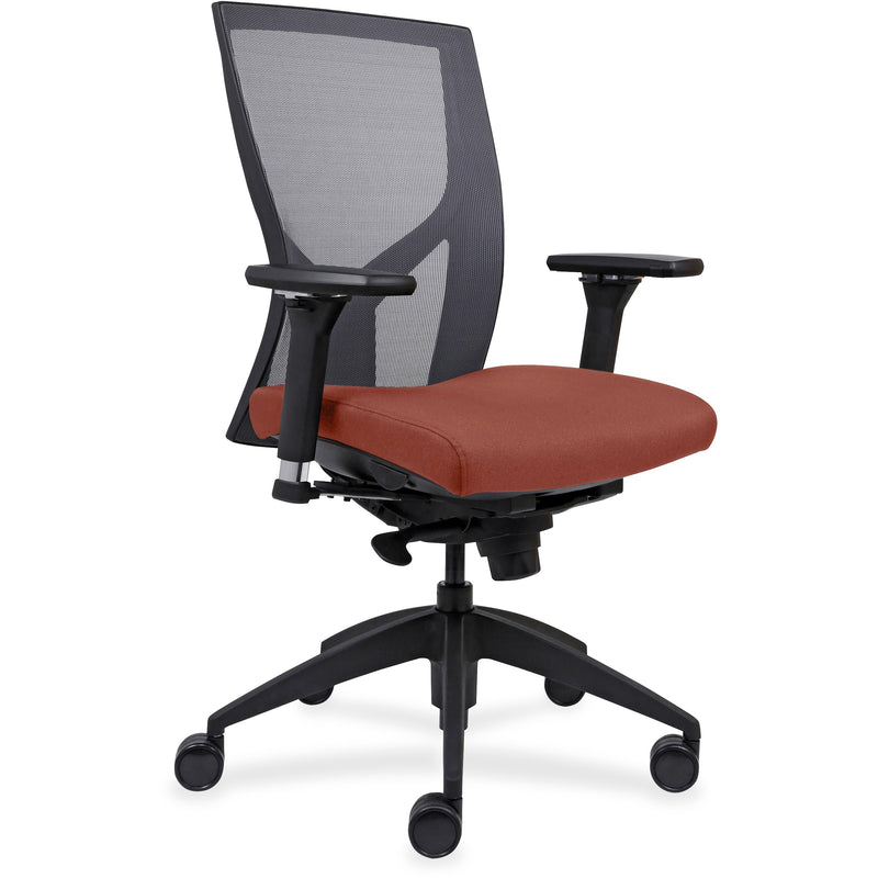 Lorell High-Back Mesh Chairs with Fabric Seat - 83109A203