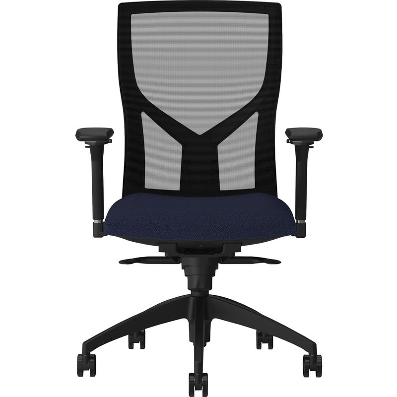 Lorell High-Back Mesh Chairs with Fabric Seat - 83109A204