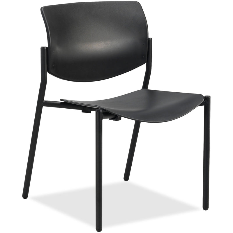Lorell Stack Chairs with Molded Plastic Seat & Back - 2/CT - 83113